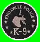 Knoxville POLICE K-9 black patch